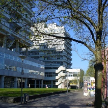 View to the Mathematics Building on the University Campus in Vahiningen